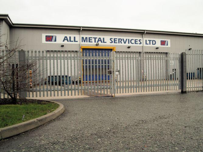 Metal security palisade fencing bolton bury manchester uk